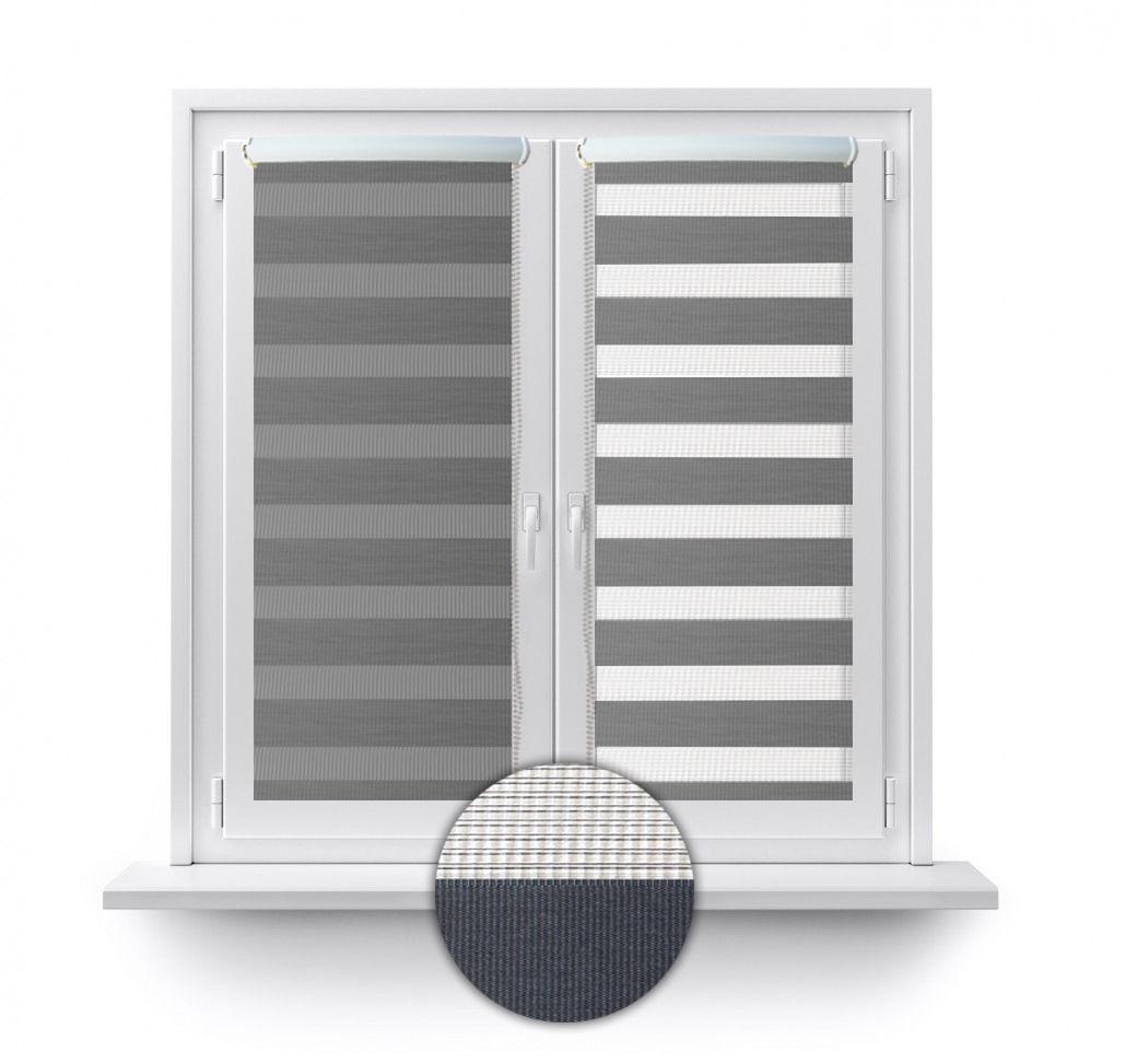 klemmfix duorollo doppel rollo mit blende ohne bohren und schrauben in 3 farben. Black Bedroom Furniture Sets. Home Design Ideas