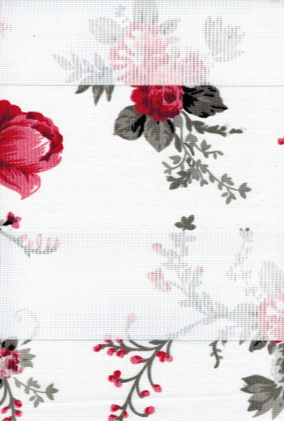 Art. 0608-03 Maßanfertigung Duorollo Blumen Rosen Boncuklu Zebra Perde Doppelrollo