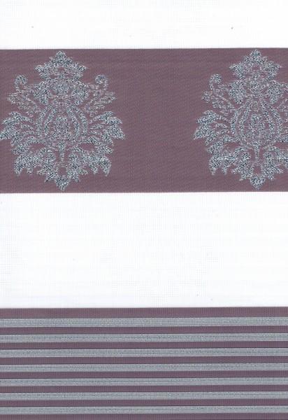Art. 1624-06 Maßanfertigung Duorollo Barok Muster Boncuklu Zebra Perde Doppelrollo Lila