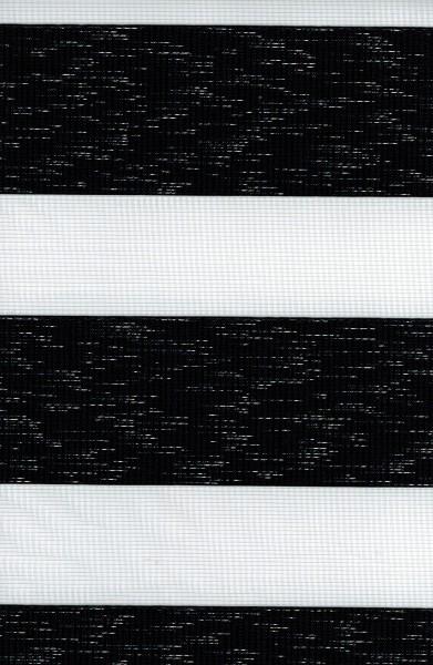 Art. 431-104 Maßanfertigung Duorollo Boncuklu Zebra Perde Doppelrollo Farbe: Schwarz