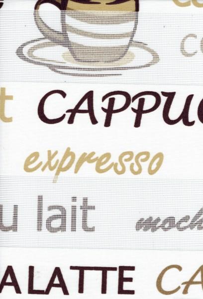 Art. kahve Maßanfertigung Duorollo Cappuccino Kaffee Latte Boncuklu Zebra Perde Doppelrollo