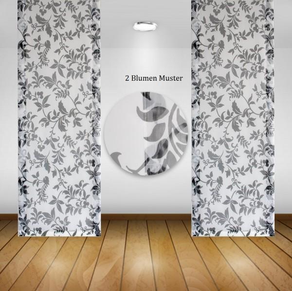 Waschbare Flächenvorhänge Schiebegardine Gardine Vorhang 50x245cm Farbe: 07