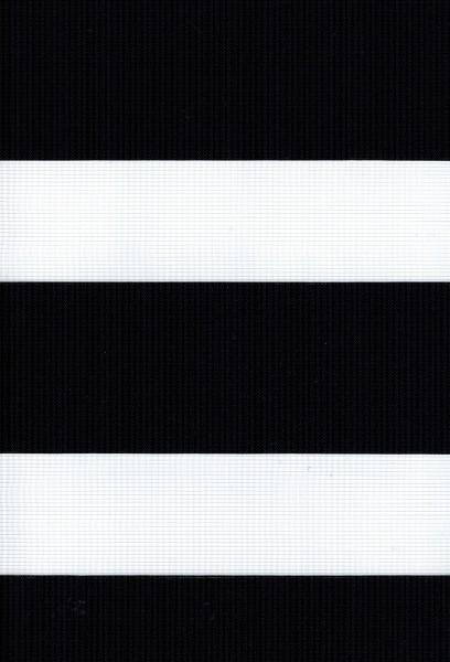 Art. Valencia Maßanfertigung Duorollo Boncuklu Zebra Perde Doppelrollo Farbe: Schwarz