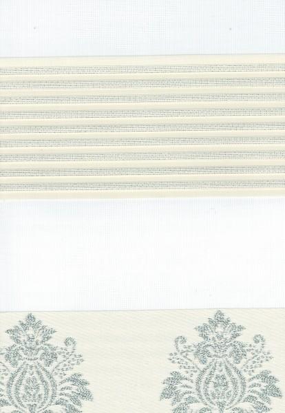 Art. 1624-01 Maßanfertigung Duorollo Barok Muster Boncuklu Zebra Perde Doppelrollo Creme