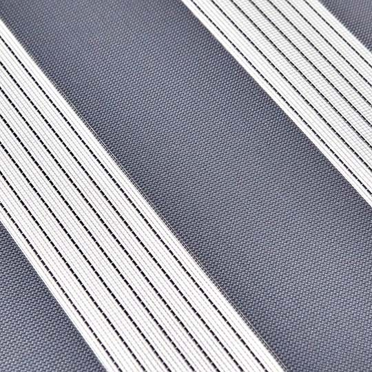 Duo Rollo Doppelrollo PER 2400-V206 Grau mit Streifen