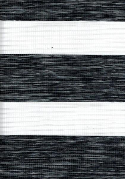 Art. 2127-0109 Maßanfertigung Doppel Rollo Zebra Oregon Anthrazit meliert