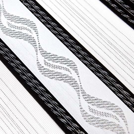 Duo Rollo Doppelrollo 93695 Weiß Schwarz Silber mit Muster