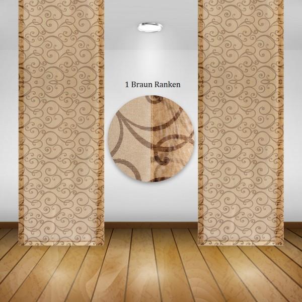 Waschbare Flächenvorhänge Schiebegardine Gardine Vorhang 50x245cm Farbe: 02