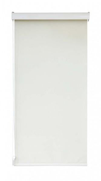 Maßanfertigung Seitenzug Rollo 1658 blickdichter Stoff Farbe: Creme