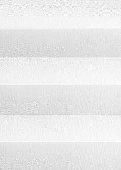 Plissee Weiß mit Streifen B0042 Maßanfertigung