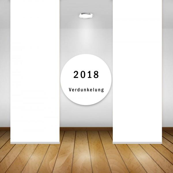 Art: 2018 Flächenvorhänge 50x260cm Schiebe Gardine Vorhang Verdunkelung Kürzbar