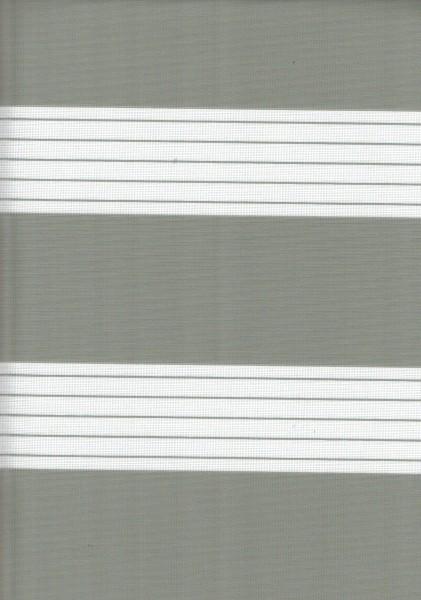 Art. 00012-0111 Maßanfertigung Doppel Rollo Zebra Silber