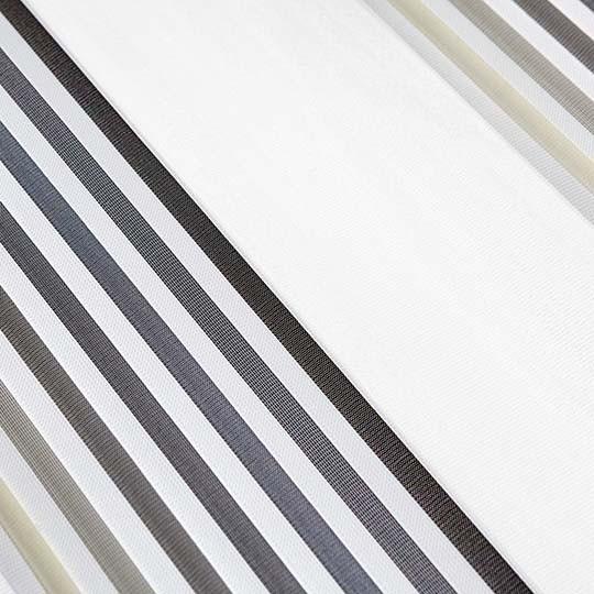 Duo Rollo Doppelrollo PM-V04 Weiß Creme Grau mit Streifen