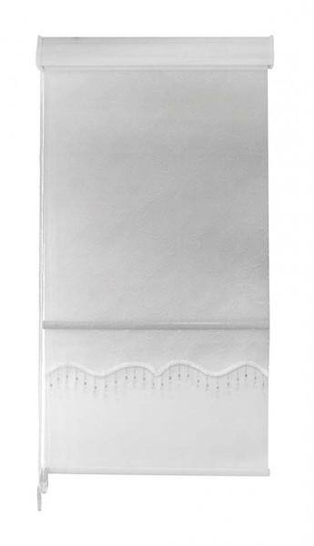 Maßanfertigung Doppelstoff Rollo RTE-06 Creme Weiß