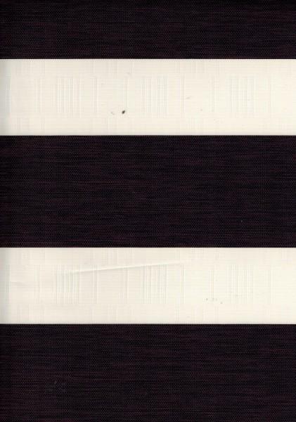 Art. IK-07 Maßanfertigung Exklusiv Doppel Rollo Zebra mit schmalen Streifen Dunkelbraun
