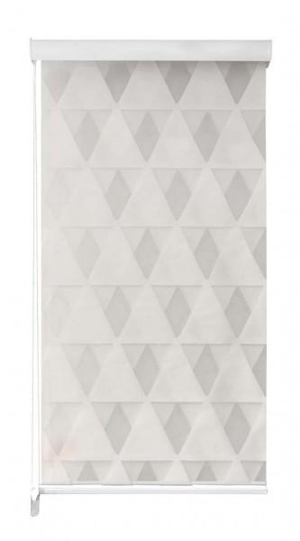 Duo Rollo Doppelrollo 2156-V02 3D Dreieck Motiv Farbe Creme