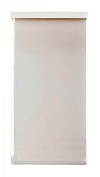 Maßanfertigung Seitenzug Rollo 1621 blickdichter Stoff Farbe: Beige