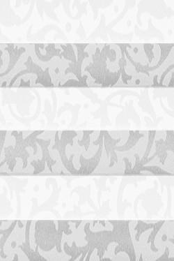 Velux DF20 Maßanfertigung Plissee B0026 Weiß mit Muster
