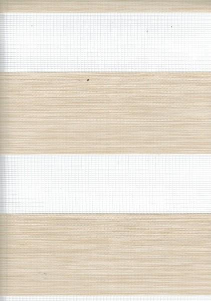 Art. 2127-0103 Maßanfertigung Doppel Rollo Zebra Oregon Creme/Beige