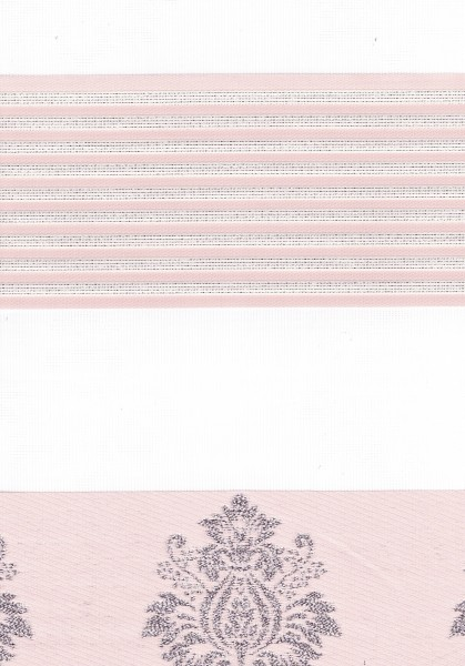 Art. 1624-12 Maßanfertigung Duorollo Barok Muster Boncuklu Zebra Perde Doppelrollo Pink