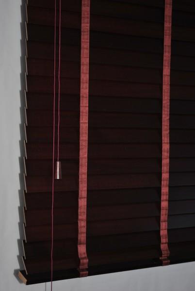 Holzjalousie 50mm Echtholz Lamellen Jalousette Holz Rollo Mahagoni