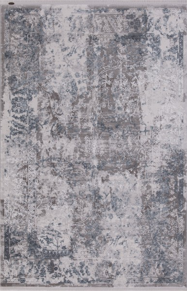 Flora Teppich Krizantem Farbe: Blau 1737A
