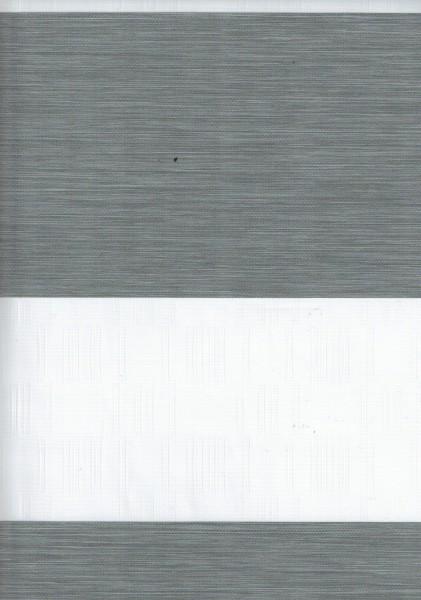 Art. Genis Bambu Maßanfertigung Exklusiv Doppel Rollo Zebra mit breiten Streifen Grau