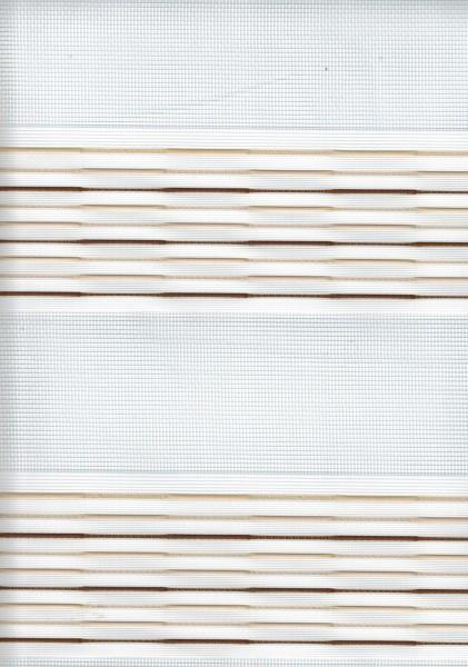 Art. 93983-03 Maßanfertigung Doppel Rollo Zebra Streifen Braun