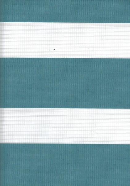 Art. 2127-0120 Maßanfertigung Doppel Rollo Zebra Oregon Hellblau