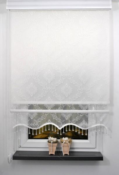 RTE06 Doppelstoff Rollo weiß mit weißem Hintergrundrollo
