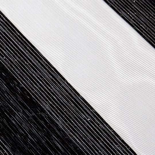 Duo Rollo Doppelrollo 14412-V06 Schwarz Silber mit Streifenmuster
