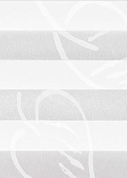 Plissee Weiß mit Muster B0027 Maßanfertigung
