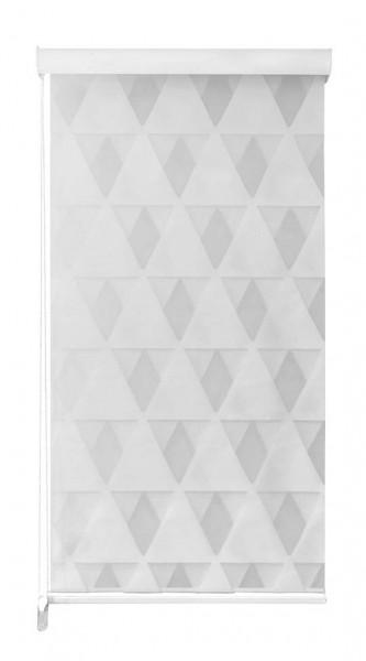 Duo Rollo Doppelrollo 2156-V01 3D Dreieck Motiv Farbe Weiß