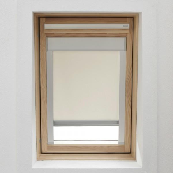 Dachfensterrollo ecru/creme für VELUX GGL, GPL, GHL C02