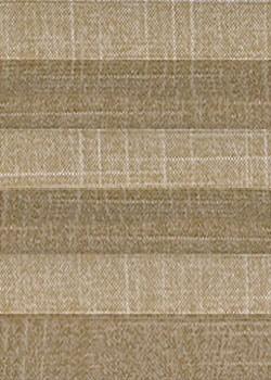 Art: 3111 Plissee Cosiflor Schokobraun/eingewebter Faden