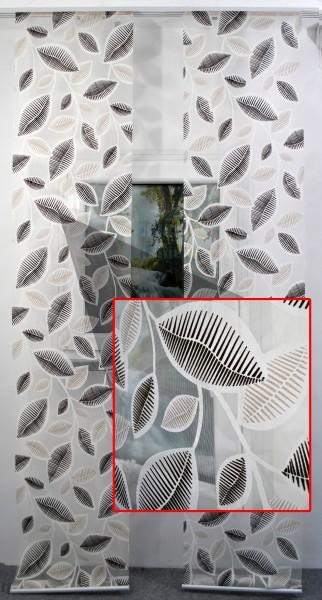 Art: 8037 Flächenvorhänge 50x260cm Schiebegardine Vorhang transparent Kürzbar