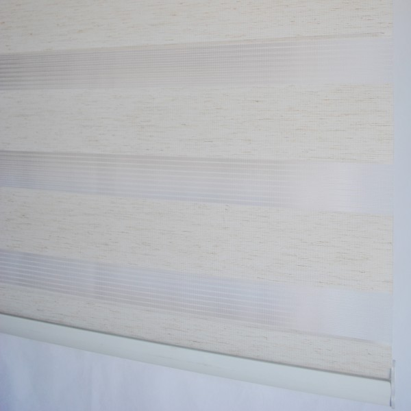 Doppelrollo Duorollo Länge bis 250cm aufrollbar Standard Farbe: Beige