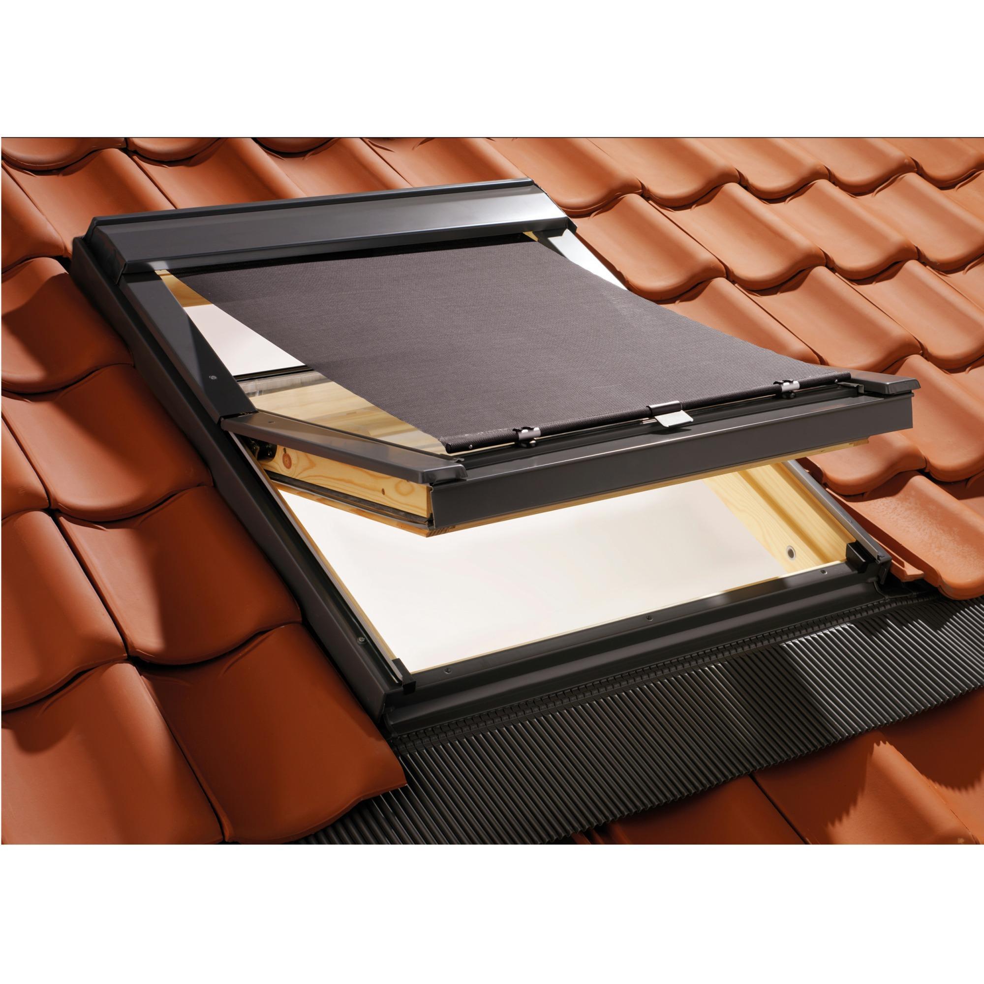 dachfenster hitzeschutz markisen f r velux 78x140cm plisseeonline. Black Bedroom Furniture Sets. Home Design Ideas