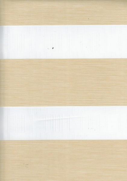 Art. IK-04 Maßanfertigung Exklusiv Doppel Rollo Zebra mit schmalen Streifen Beige