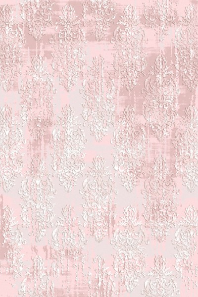 Flora Teppich Rhodos Farbe: Rosa 6590