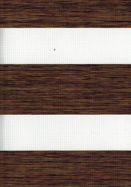 Art. 2127-0110 Maßanfertigung Doppel Rollo Zebra Oregon Dunkelbraun meliert