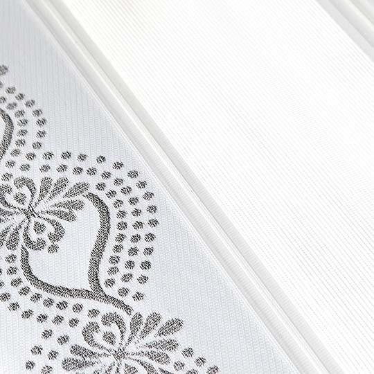 Duo Rollo Doppelrollo 93534-V01 Weiß Silber mit Blumenmuster