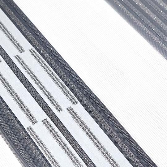 Duo Rollo Doppelrollo 93638-V08 Weiß Grau Silber mit Streifenmuster