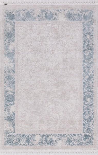 Flora Teppich Aysil Farbe: Blau 4686A