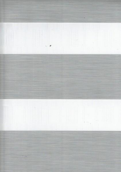 Art. IK-08 Maßanfertigung Exklusiv Doppel Rollo Zebra mit schmalen Streifen Grau