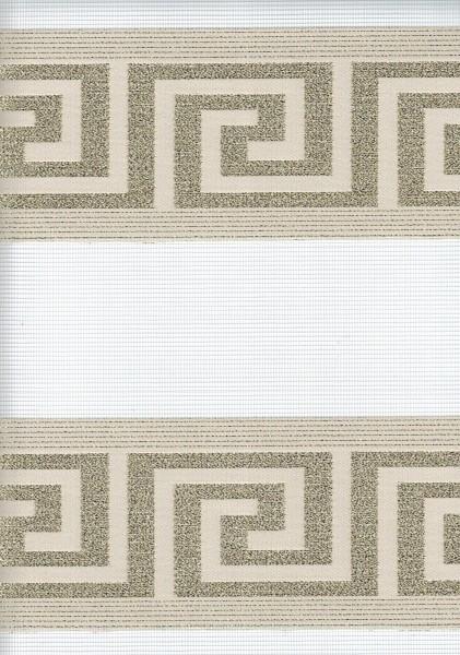 Art. 97000-02 Maßanfertigung Doppel Rollo Zebra Versace Creme/Gold