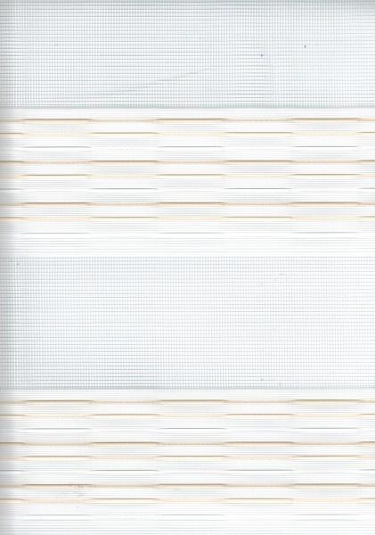 Art. 93983-01 Maßanfertigung Doppel Rollo Zebra Streifen Creme