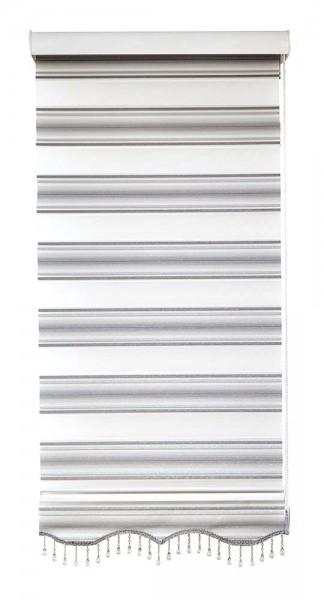 Duo Rollo Doppelrollo MS-V04 Grau Silber Glitzer