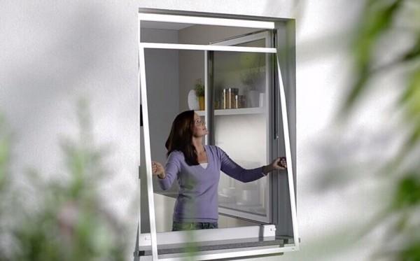 Fliegengitter Fenster Insektenschutz Alu Rahmen Mückenschutz mit Dichtungsbürste