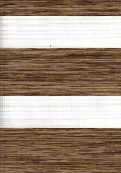 Art. 2127-0112 Maßanfertigung Doppel Rollo Zebra Oregon Braun meliert